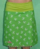 Stretchrock, Damnoni, grün/gelb