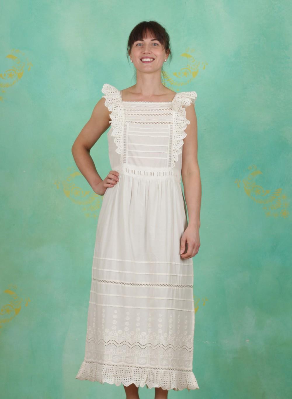 Noa Noa Sommer Kleid Broderie Anglaise Cotton Birch Ey Linda Online Shop