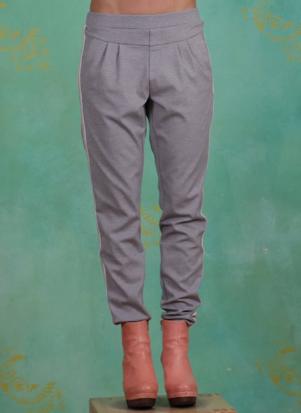 Hose, Beate, light-grey-melange
