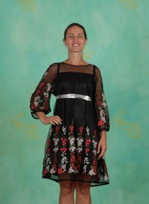 Kleid, Robe De Coralie , night-floral-tulle