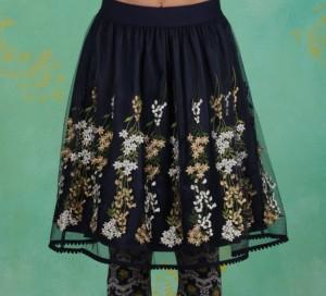 Rock, Tirilie Tuilerie Skirt, ice-floral-tulle