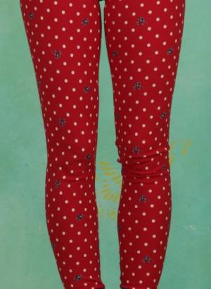 Leggings, Walking On Flowers Legs, dots-of-love