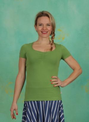 Shirt, Logo Shortsleeve Feminin Uni, green-light