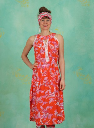 Kleid, Summer Goddess Robe, tangerine-tropical