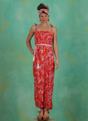 Jumpsuit, Pumperjumper, tangerine-tropical
