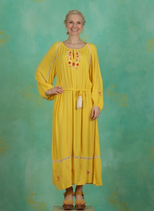 Kleid, Bohemian Beauty Robe, sunflower-crepe