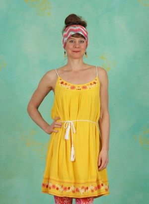 Kleid, Summer In The City Dress, sunflower-crepe
