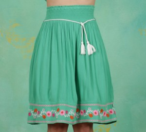 Rock, Lady Doll Skirt, smaragd-crepe