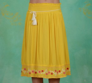 Rock, Lady Doll Skirt, sunflower-crepe