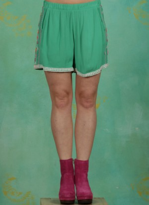 Shorts, Superwelle Legs, smaragd-crepe