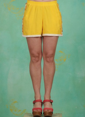 Shorts, Superwelle Legs, sunflower-crepe