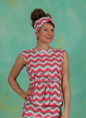 Top, Miss Charming Top, hippie-zig-zag
