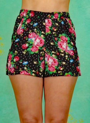 Shorts, Holiday Romance Shorts, garden-of-joy
