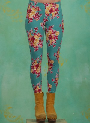 Leggins, Ladylaune Legs, super-retro-bouquet