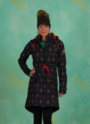 Mantel, Swallowtail Promenade Coat, red-hood