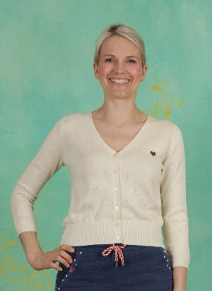 Cardigan, Sweet Petite Cardy, white-apple