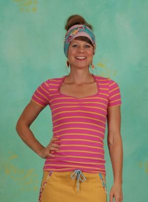Shirt, Breton Heart Tee, sweet-stripes