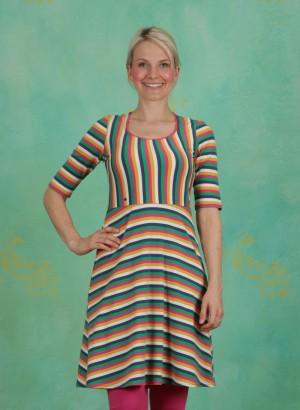 Kleid, Logo Breton Dress, rainbow-stripes