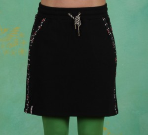 Rock, Sporty Sister Skirt, retro-black