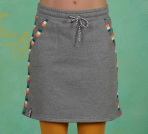 Rock, Sporty Sister Skirt, retro-grey