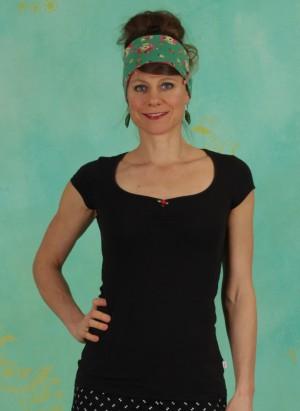 Shirt, Logo Shortsleeve Feminine, simply-black