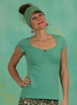 Shirt, Logo Shortsleeve Feminine, simply-green