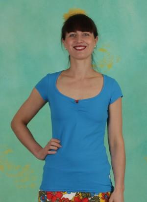 Shirt, Logo Shortsleeve Feminine, simply-blue