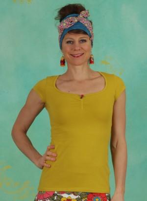 Shirt, Logo Shortsleeve Feminine, simply-yellow