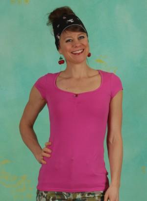 Shirt, Logo Shortsleeve Feminine, simply-pink