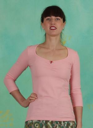 Shirt, Logo 3/4Sleeve Decollete Shirt, simply-peach