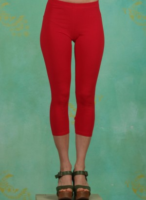 Leggins, Logo 3/4 leggings, simply-red