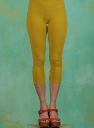 Leggins, Logo 3/4 leggings, simply-yellow