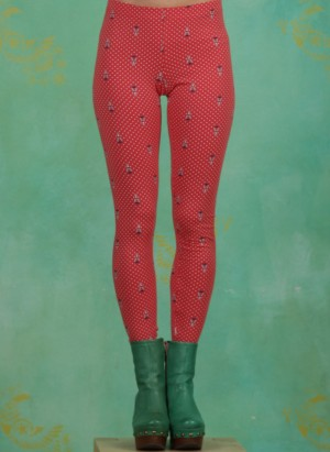 Leggins, Who Let The Fox Out Legs, red-tippi-dots