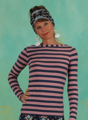 Shirt, Logo Striped Longsleeve Shirt, majolica-blue-stripes