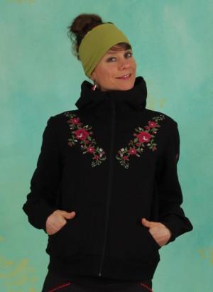 Zipper, Aura Paramour Jacket, jet-black