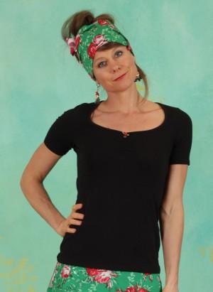 Shirt, Logo Shortsleeve Feminin, basic-black