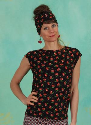 Shirt, Flowgirl Tee, cherry-ladybug