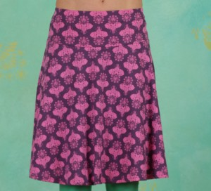 Rock, Let Freedom Rule Skirt, pink-elephants