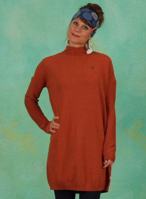 Long-Pullover, Straight N` Easy Turtle, brown-classic