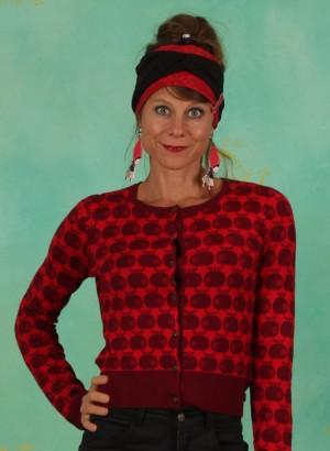 Cardigan, Strickliesl, knit-red-apple