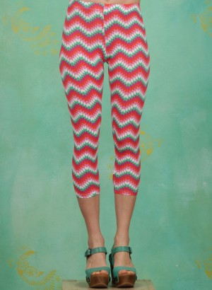 Leggins, Happy Capri Legs, hippie-zig-zag