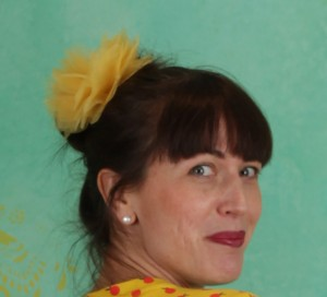Haarblüte, Rumbling Rose Clip, yellow-rose