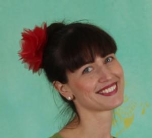 Haarblüte, Rumbling Rose Clip, red-rose