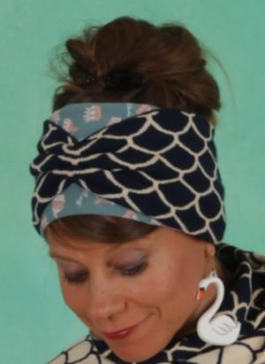 Haarband, Wild Knot Headband, storm-shell