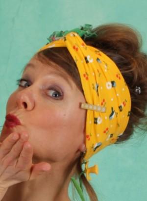 Haarband, Tiny Knot Hairband, cherry-picknick