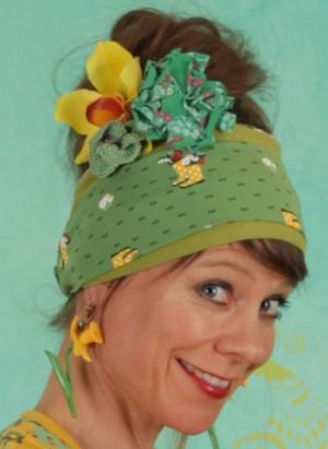 Haarband, Happy Hair Wrap, yellow-wellys