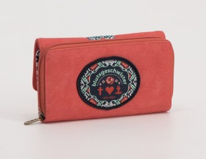 Portemonnaie, Buy The Right Things Purse, coral-leather