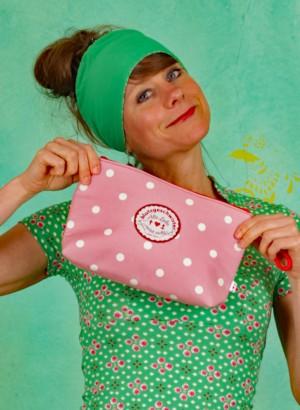 Kulturtasche, Sweethearts Washbag, rose-dot