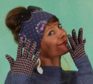 Handschuhe, 06367-754, lilac-multi