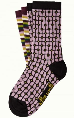 Socken 2er-Pack, 06546-754, lilac-multi